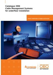 Cable Management Systems for underfloor ... - OBO Bettermann