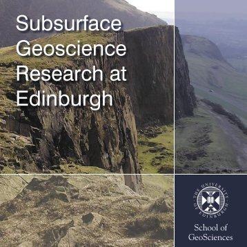 Subsurface Geoscience Research at Edinburgh - School of ...