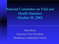 Alan Mertz - National Committee on Vital and Health Statistics