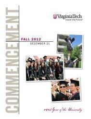 Fall 2012 - Virginia Tech