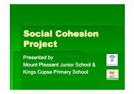 Mount Pleasant - Kings Copse - Social Cohesion Project power point