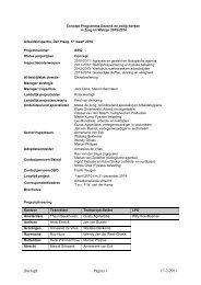 Programma Gezond en veilig werken in Zorg en ... - Inspectie SZW
