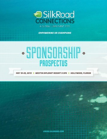 Download Sponsorship Prospectus Now! - SilkRoad Users ...