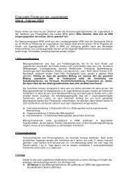 Finanzielle Förderung der Jugendarbeit Stand ... - JDAV NRW