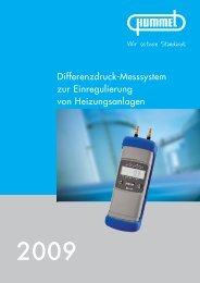 Differenzdruck-Messsystem zur Einregulierung von ... - Hummel AG