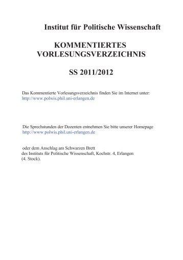 Wintersemester 2011/12 (PDF, 400 kB) - Institut für Politische ...