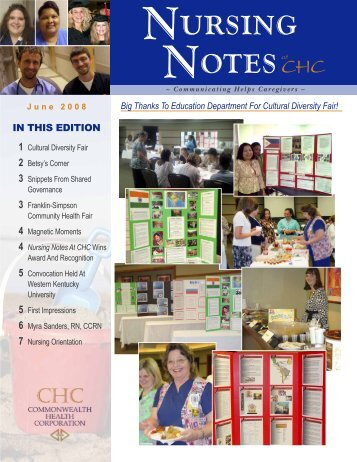 Nursing Notes June 2008 - The Medical Center