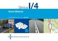 Silnice I/4 Horní Vltavice - Ředitelství silnic a dálnic