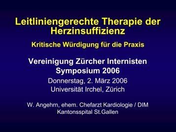 Leitliniengerechte Therapie der Herzinsuffizienz - Vereinigung ...