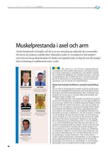 Muskelprestanda i axel och arm (2010) - GIH