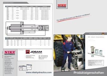 Produkteigenschaften - JOSAM
