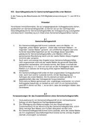 Geschäftsgebräuche für Gemeinschaftsgeschäfte - IVD Mitte Ost