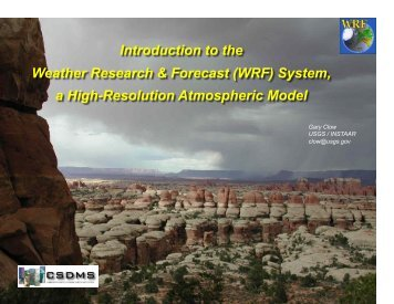 Introduction to the Weather Research & Forecast (WRF ... - csdms