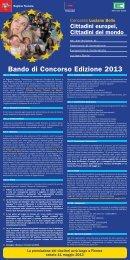 Leggi il bando completo - Festival d'Europa 2013