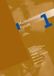 Muskuloskeletalt Forum - 1/2007 (pdf) - Fagforum for ...