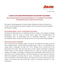 LAUDA AIR WINTERPROGRAMM AB SOFORT BUCHBAR