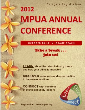 Take a break . . . join us! - MPUA Missouri Public Utility Alliance