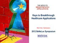 The Keys to Breakthrough Healthcare - InterSystems Benelux