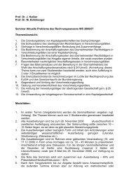 Prof. Dr. J. Keßler Prof. Dr. M. Kühnberger Seminar Aktuelle ...