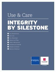 Integrity Installation - Use & Care - Silestone