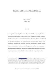 Liquidity and Prediction Market Efficiency? - Columbia Business ...