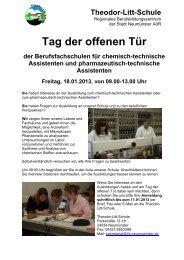 Tag der offenen Tür - Theodor-Litt-Schule - Stadt Neumünster