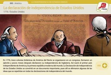 La declaración de independencia de Estados Unidos - Manosanta