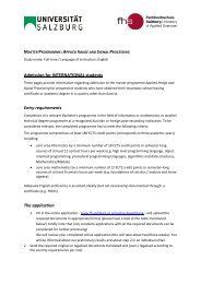 Admission for INTERNATIONAL students Entry requirements The ...