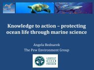 Knowledge to action – protecting ocean life through marine science