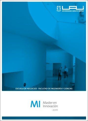 MI Master en Innovación - Universidad Adolfo Ibañez