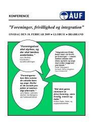 INVITATION TIL KONFERENCE - Århus Ungdommens Fællesråd