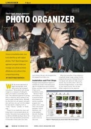PHOTO ORGANIZER - Linux Magazine