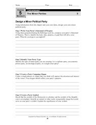 Minor Political Party Project - Reeths-Puffer Schools