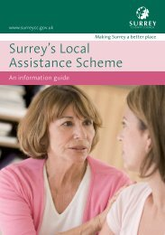 Surrey's Local Assistance Scheme - Surrey Heath Borough Council