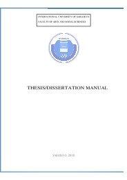 FASS Thesis Manual - International University of Sarajevo