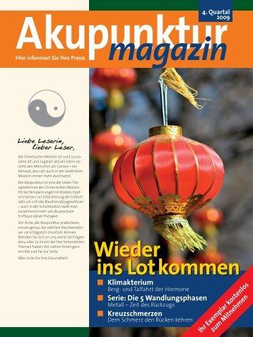 Akupunktur 4. Quartal 2009