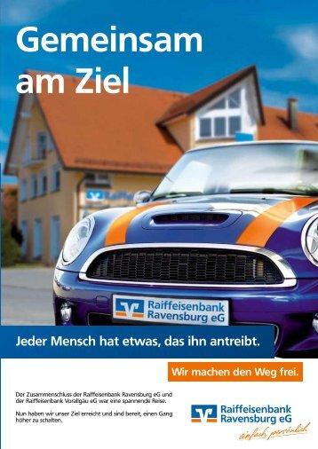 Gemeinsam am Ziel - Raiffeisenbank Ravensburg eG