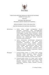 PMK No. 28 ttg Pedoman Pelaksanaan Program JKN