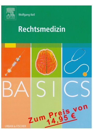 BASICS Rechtsmedizin - Inhaltsverzeichnis
