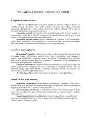 Complicatii si sechele post-traumatice - Spitalul Clinic Municipal de ...