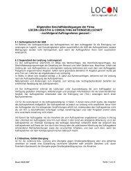 Allgemeine Geschäftsbedingungen der Firma - Locon Logistik ...