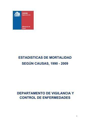 Mortalidad por Causas 1990-2009 - SEREMI de Salud Región del ...