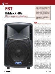 FBT HiMaxX 40a - FX-Music Group