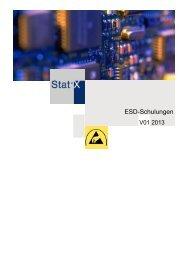 V01 2013 ESD-Schulungen - Stat-X Deutschland GmbH