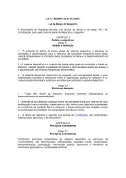 Lei de Bases do Desporto - Instituto do Desporto de Portugal