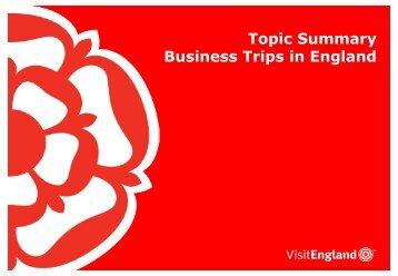 England Business Trips - VisitEngland