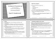 Grundlagen der Programmierung Kapitel 12: Zugriffskontrolle