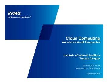 KPMG - Cloud Computing An Internal Audit Perspective