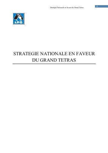 Stratégie Nationale en faveur du Grand Tétras - Le monde des ...