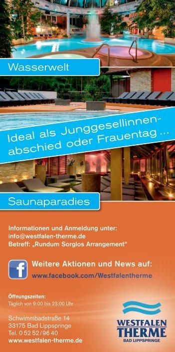 Flyer downloaden - Westfalen Therme